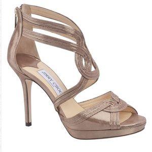 Jimmy Choo gold heeled sandal